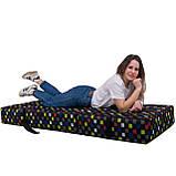 Безкаркасне крісло розкладне ліжко Принт поролон TIA-SPORT, фото 2
