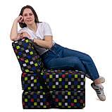 Безкаркасне крісло розкладне ліжко Принт поролон TIA-SPORT, фото 3