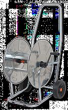 """Візок для шлангу, нержавіюча сталь 3/4"""" місткість 90м, SOLID ZINCATO, AG3317 Польща"""