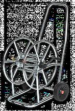 """Візок для шлангу поливу, 3/4"""" місткість 80м, SOLID ZINC-СРІБНИЙ, AG3318 Польща"""