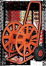 """Візок для шлангу поливу металева 3/4"""" 140м з накачаними колесами, AG320-RG Польща"""
