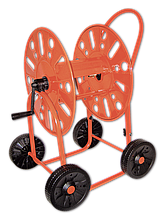 "Візок для поливального шланга металева 3/4"" 90м MAXI CAR – на чотирьох колесах., AG411 Польща"