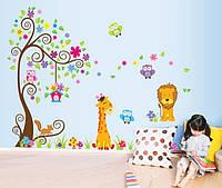 Интерьерная наклейка на стену в детскую Green Life Зверята DF5210AB