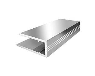 Алюминиевый торцевой профиль АПТ 10 мм серебро 2100 мм