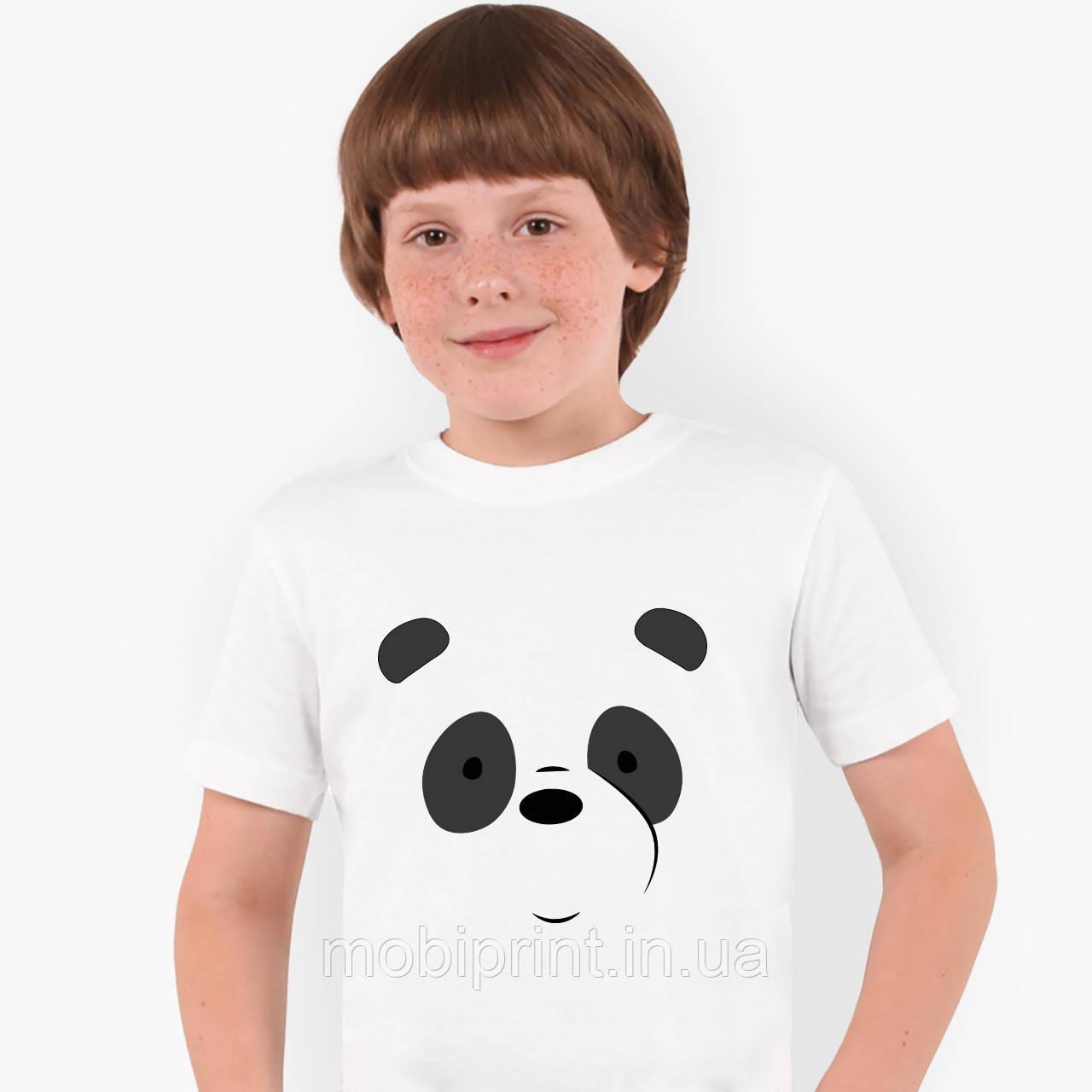 Футболка дитяча Панда Вся правда про ведмедів (We Bare Bears) Білий (9224-2661)