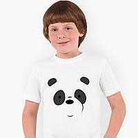 Футболка дитяча Панда Вся правда про ведмедів (We Bare Bears) Білий (9224-2661), фото 1