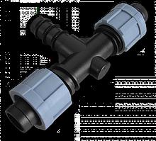 Тройник 2 x лента/ Соединитель для трубки  20мм, DSTA03-20L