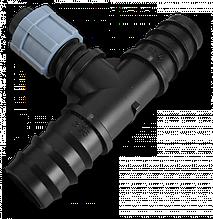 Тройник лента, 2 х соединитель для трубки  25мм, DSTA04-25L