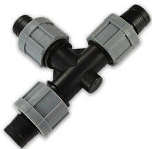 Тройник для капельной ленты, DSTA06-00L