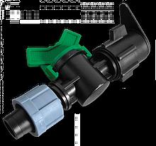 Старт-Коннектор, лента / плоский шланг с  миникраном, DSTZ07-1701L