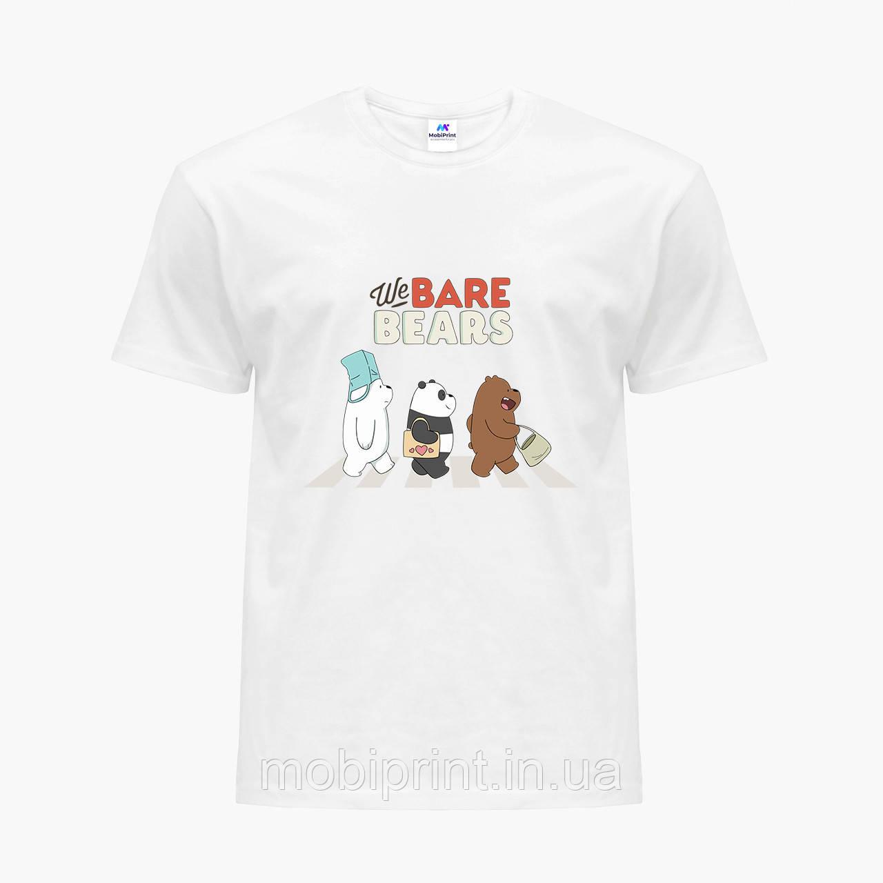Футболка детская Вся правда о медведях (We Bare Bears) Белый (9224-2666)