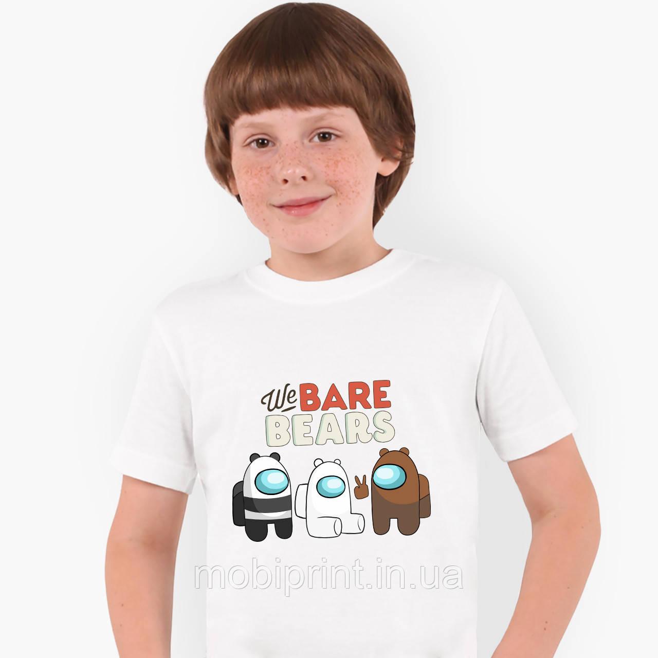 Футболка детская Вся правда о медведях (We Bare Bears) Белый (9224-2668)