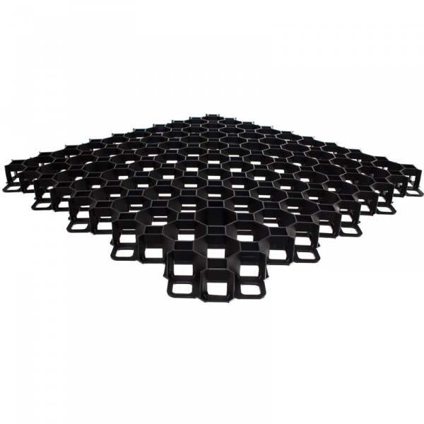 Газонная решетка для стоянок, парковок, дорожек MULTI GRID 600x600x40 мм, нагрузка 200 тонн/м.кв. Польша