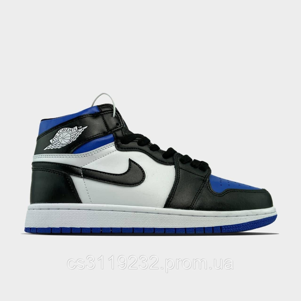 Чоловічі кросівки Nike Air Jordan 1 Blue Black (синьо-блакитні)