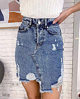Джинсовая женская юбка 5605 СО, фото 1