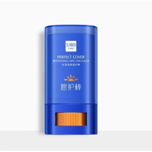 Сонцезахисний крем для обличчя в стіку SPF30+ PA+++ SENANA PERFECT COVER REFRESHING CARE CONCEALER з вітаміном Е