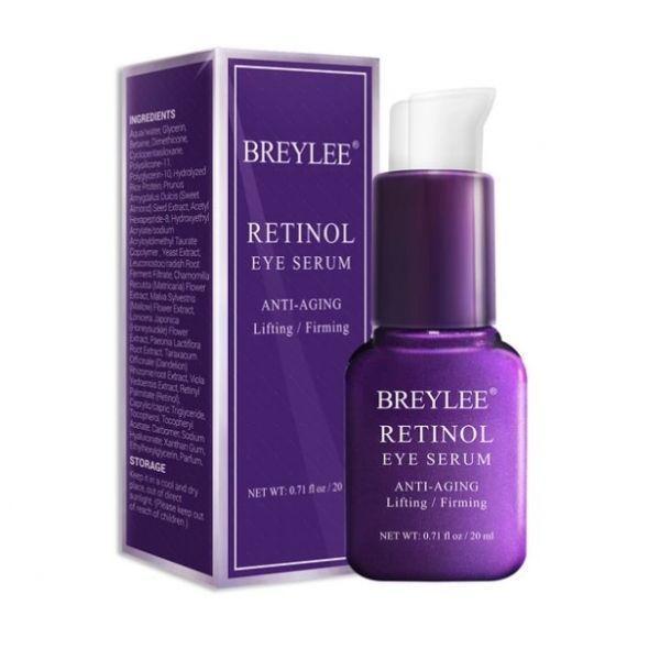Антивозрастная сыворотка для кожи вокруг глаз BREYLEE Anti-Aging Lifting Retinol Eye Serum с ретинолом от