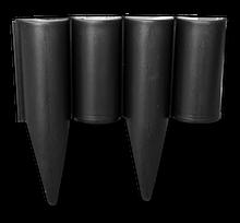 Палисад бордюр садовый газонный PALGARDEN, черный, 2,5 м, OBP1202-002BK Польша