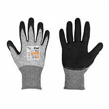 Перчатки с защитой от порезов, CUT COVER 4, полиуретан,  размер 7, RWCC4SN7 Польша