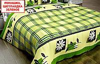 Євро підодіяльник з бязі - Ромашка шотландка зелена