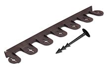 Бордюр газонный PALISGARDEN, 75м, набор-125 элементов / 60 см*38мм+300 колышков GeoPEG, коричневый, Польша