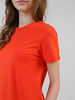 Футболка женская морковный 95% хлопок 5% ликра