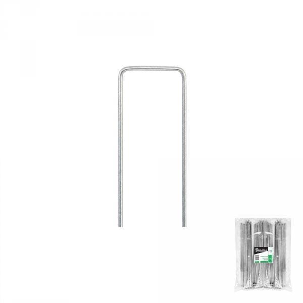 """Шпилька оцинкованная для крепления агроволокна, металлическая, 3/15  см, 100 шт, """"U"""", ATSMGU1315/100L Польша"""