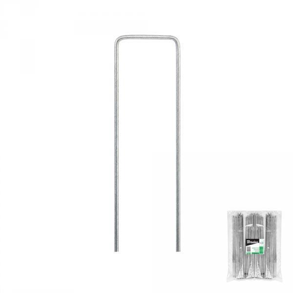 """Шпилька оцинкованная для крепления агроволокна, металлическая, 3/20  см, 50 шт, """"U"""", ATSMGU1320/50L Польша"""