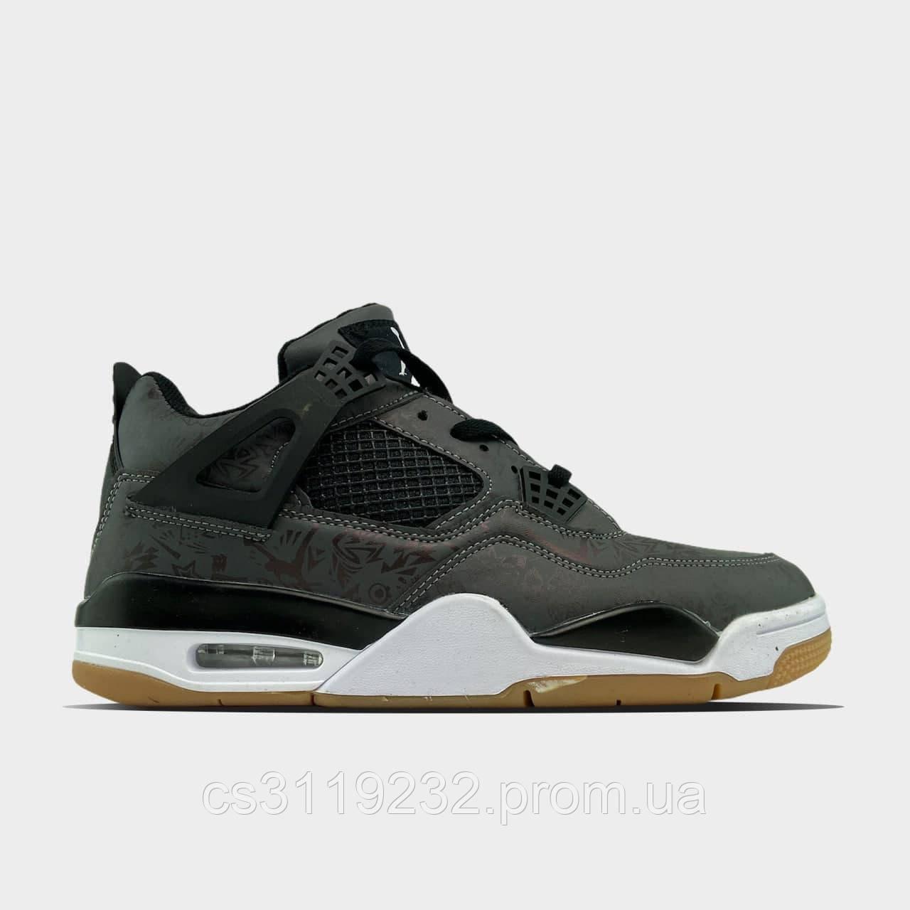 Чоловічі кросівки Air Jordan 4 Retro Black (чорні)