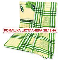Двоспальнепростирадлона резинці - Ромашка шотландка зелена