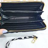 Женские недорогие кошельки на змейке (лак в горошек), фото 2