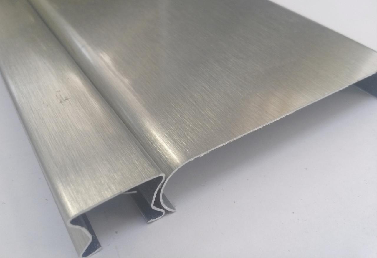 Реечный алюминиевый потолок Allux нержавейка сатин комплект 120 см х 150 см
