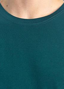 Універсальна футболка вільного крою БАТАЛ (темно-зелена)