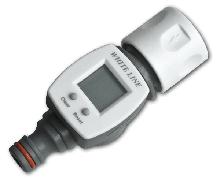 Счетчик расхода воды, для систем полива и орошения коннектор/ниппель, WHITE LINE WL-3100 Польша (с обнулением)