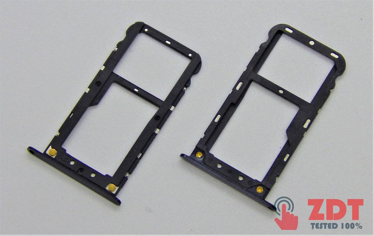 SIM лоток для Xiaomi Redmi 5 Plus Black (8200118B)