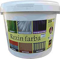 Краска резиновая REZIN-FARBA зелёная 1л Ispolin