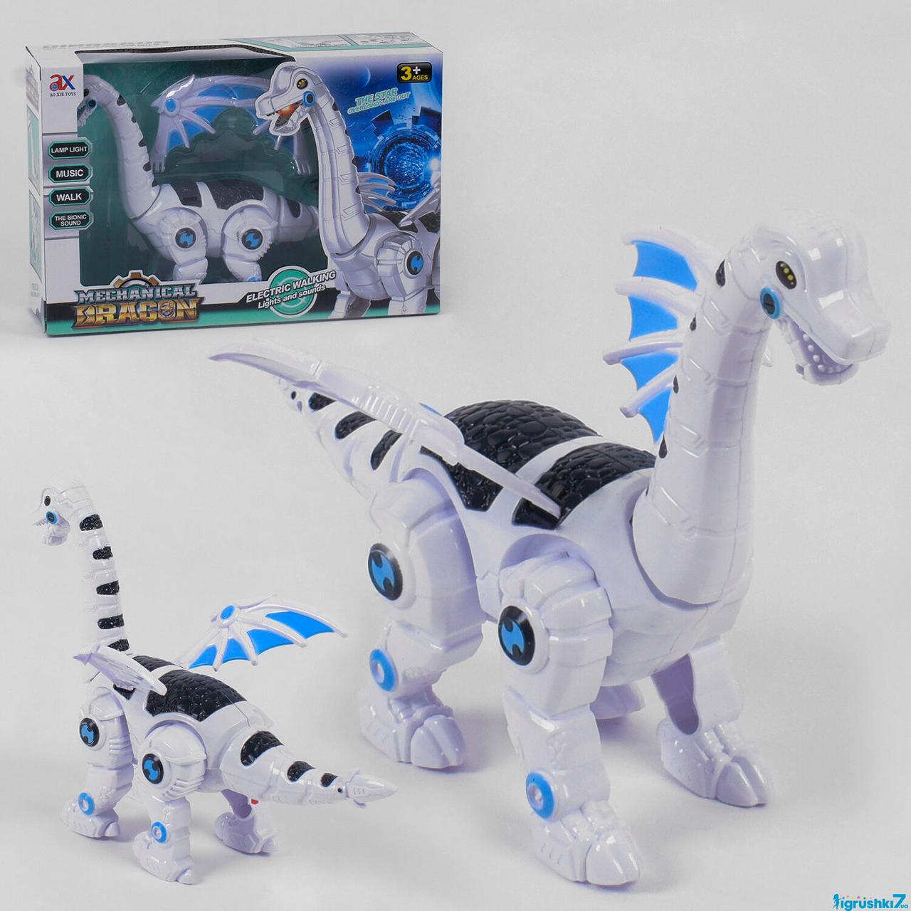 Робот Динозавр 845 B, световые, звуковые эффекты, ходит, в коробке
