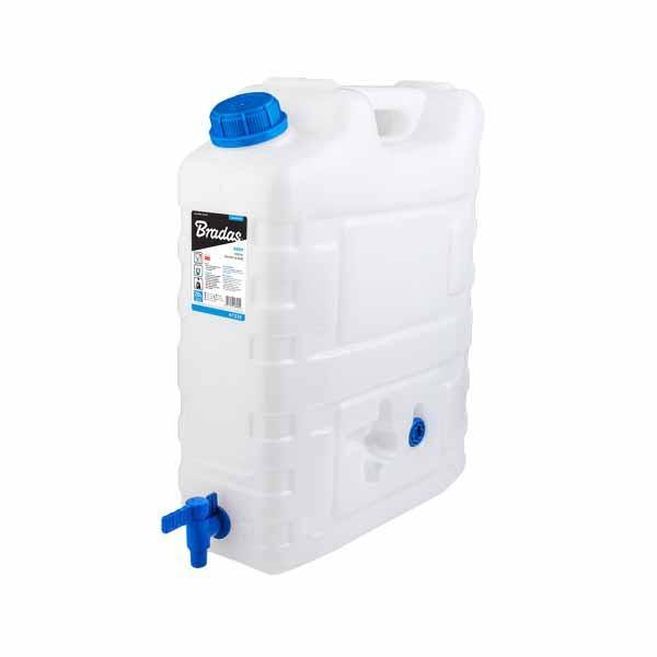 Канистра Bradas для питьевой воды, 20 литров, с краном, пищевой пластик, KTZ20 Польша