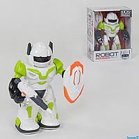 Робот-трансформер  605-1, 2 цвета, ходит, световые, звуковые эффекты, вращается на 360⁰, в коробке