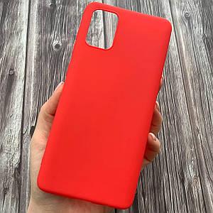 Чехол для Samsung Galaxy A71 тонкий однотонный плотный накладка чехол на самсунг а71 красный