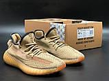 Модные женские кроссовки Adidas Yeezy Boost 350 v2,текстиль,бежевые, фото 2