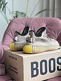 Модные женские кроссовки Adidas Yeezy Boost 350 v2,текстиль,бежевые, фото 4