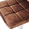 Стілець барний хокер Homart 727VS коричневий велюр (9335), фото 8