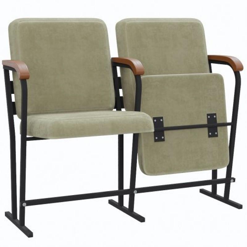 """Крісло для залів та аудиторій """"Аскет-Оптима"""" з дерев'яним підлокітником"""