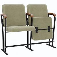 """Крісло для залів та аудиторій """"Аскет-Оптима"""" з дерев'яним підлокітником, фото 1"""