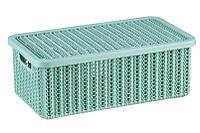 Коробка В'ЯЗАННЯ 6л з кришкою IDEA, фісташковий (М2370Ф)