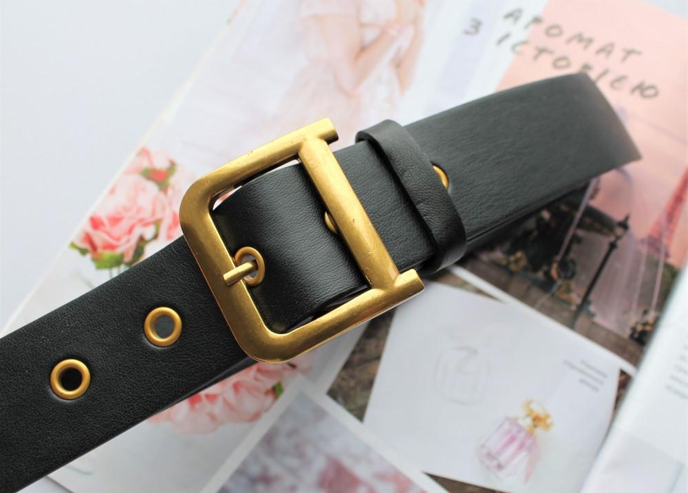 Женский ремень Dior экокожа черный