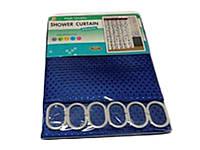 """Штора для ванної текстильна Chaoya """"Піку"""", 180х180 см, синя"""