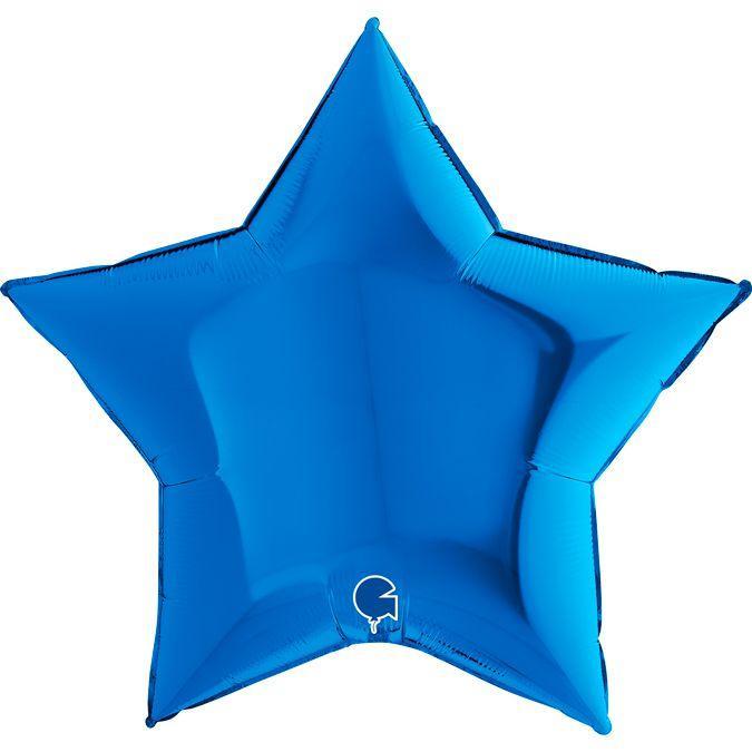 "Фол куля Grabo 36""/90см ЗІРКА металік синій (Грабо)"