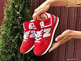 Зимние подростковые кроссовки New Balance 574,красные, фото 2